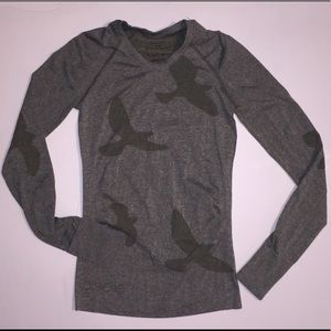 Oiselle Flyte Bird Long Sleeve Shirt money Top XS